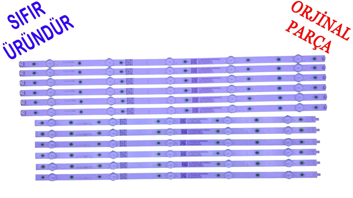 LB55073 philips 55pus6262, 55pus6412, 55pus7303, 55pus6703 sıfır orjinal led bar panel ledleri