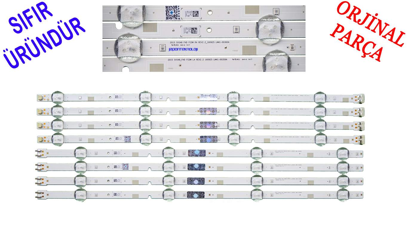 SAMSUNG UE48J5070, UE48J5270, UE48K5200 LED BAR , V5DN-480SMA-R4, V5DN-480SMB-R3, LM41-00359A, LM41-00360A, 2015SVS48_FHD FCOM LED BACKLIGHT