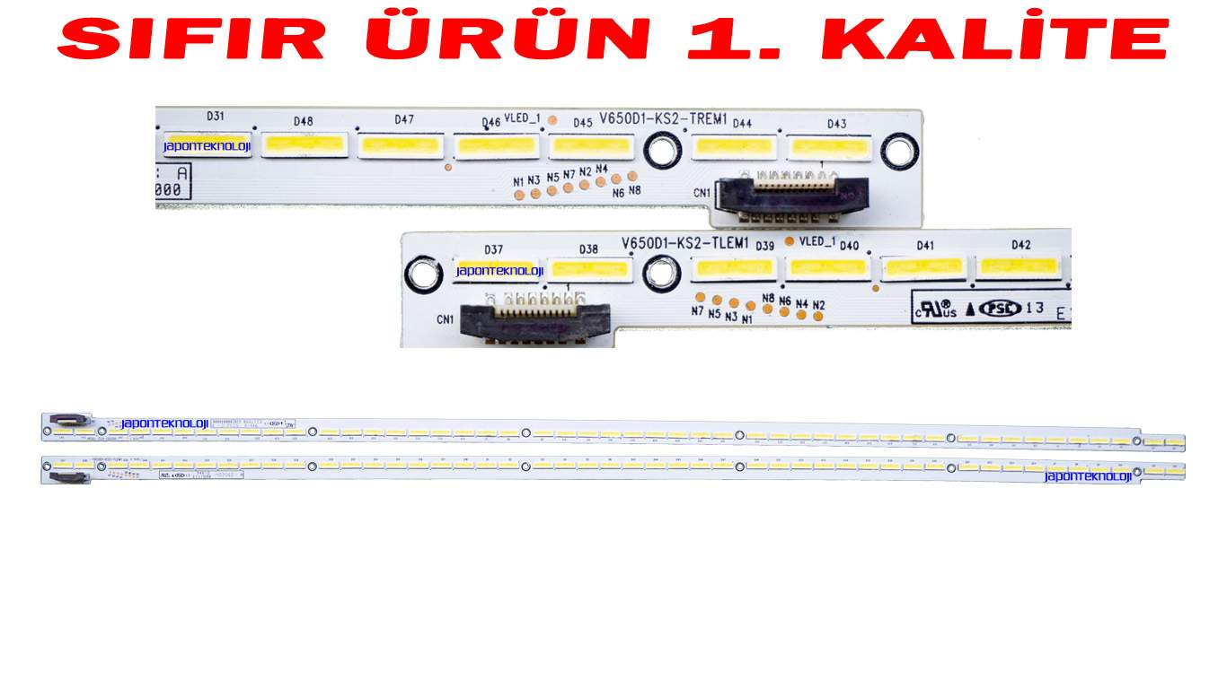 SUNNY SN065LD690-FDTVS LED BAR , Philips 65PUK7120/12 LED BAR , V650D1-KS2-TLEM1, V650D1-KS2-TREM1, V650D1-KS2-TLEM1-TRM1, LED Strips, LED Light Strip, INNOLUX, V650HP1-LS6, V650HP1-LS6 LED BAR